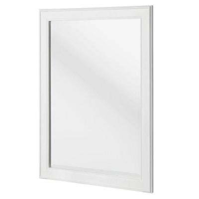 Framed – Wood – Bathroom Mirrors – Bath – The Home Depot With Regard To White Framed Wall Mirrors (View 9 of 15)