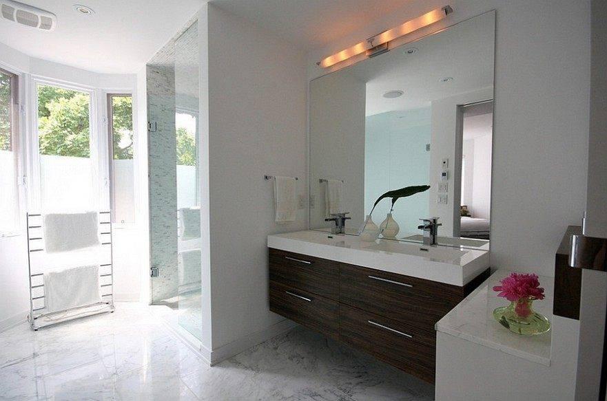 Popular Photo of Frameless Bathroom Wall Mirrors