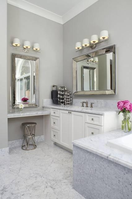 Frameless Beveled Mirror Bathroom Traditional With Bath Intended For Frameless Beveled Bathroom Mirrors (#8 of 15)
