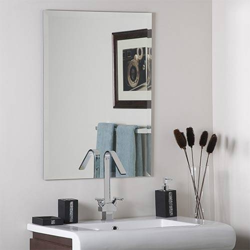 Frameless Mirrors | Bellacor With Regard To Infinity Frameless Wall Mirrors (#5 of 15)