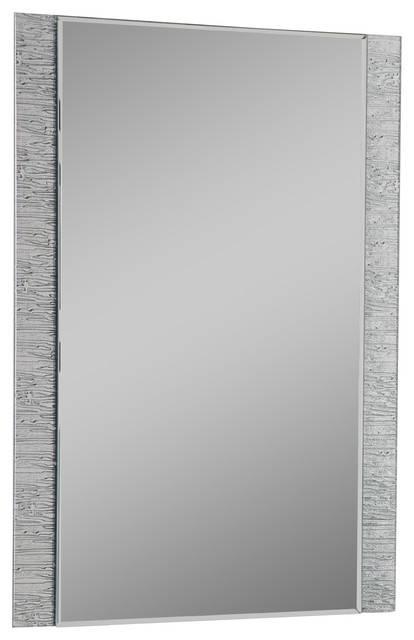 Frameless Molten Wall Mirror – Contemporary – Bathroom Mirrors Throughout Frameless Molten Wall Mirrors (#7 of 15)