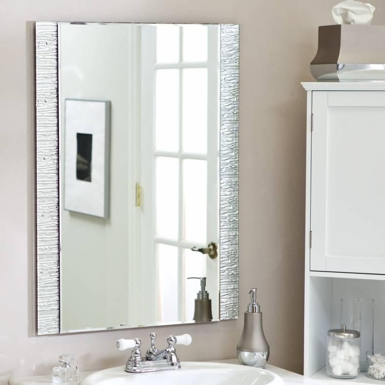 Frameless Molten Wall Mirror   Mirrors Designs And Ideas Regarding Frameless Molten Wall Mirrors (#9 of 15)