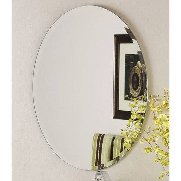 Frameless Round Beveled Mirror – Free Shipping Today – Overstock For Frameless Round Wall Mirrors (#12 of 15)