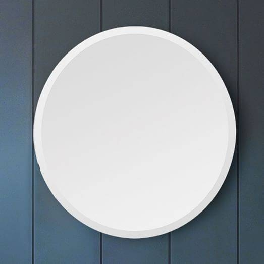 Popular Photo of Frameless Round Wall Mirrors