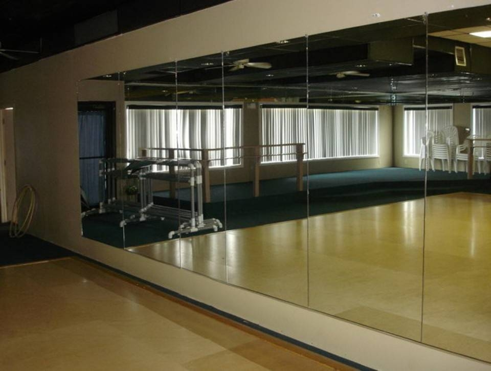 Frameless Wall Mirror Full Length In Gym Full Wall Mirrors (#5 of 15)