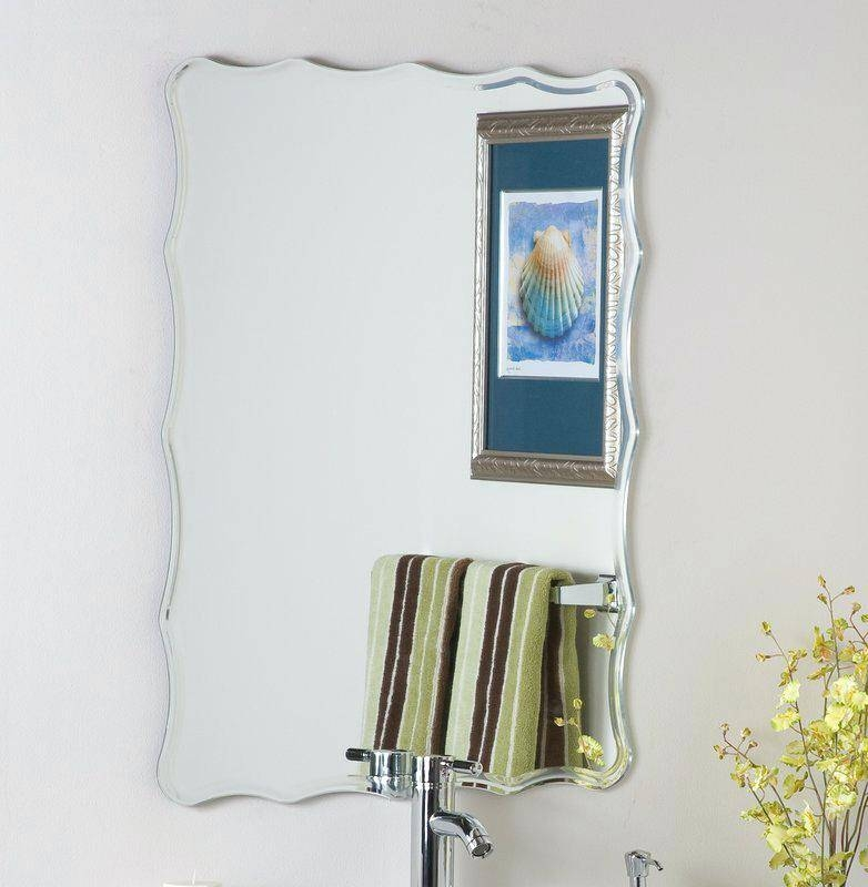 Frameless Wall Mirror Large Infinity Mirrors Uk Contemporary Ideas With Infinity Frameless Wall Mirrors (#8 of 15)