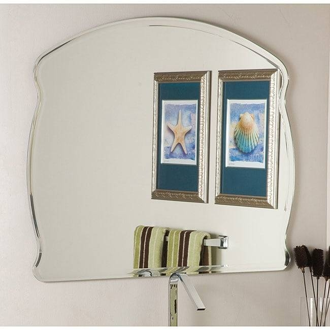 Frameless Wide Wall Mirror – Free Shipping Today – Overstock Intended For Wide Wall Mirrors (#5 of 15)