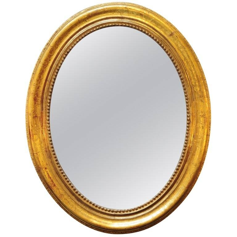 Popular Photo of Gold Oval Mirrors