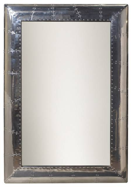 French Heritage Large Ferault Mirror – Industrial – Wall Mirrors Pertaining To Industrial Wall Mirrors (View 9 of 15)