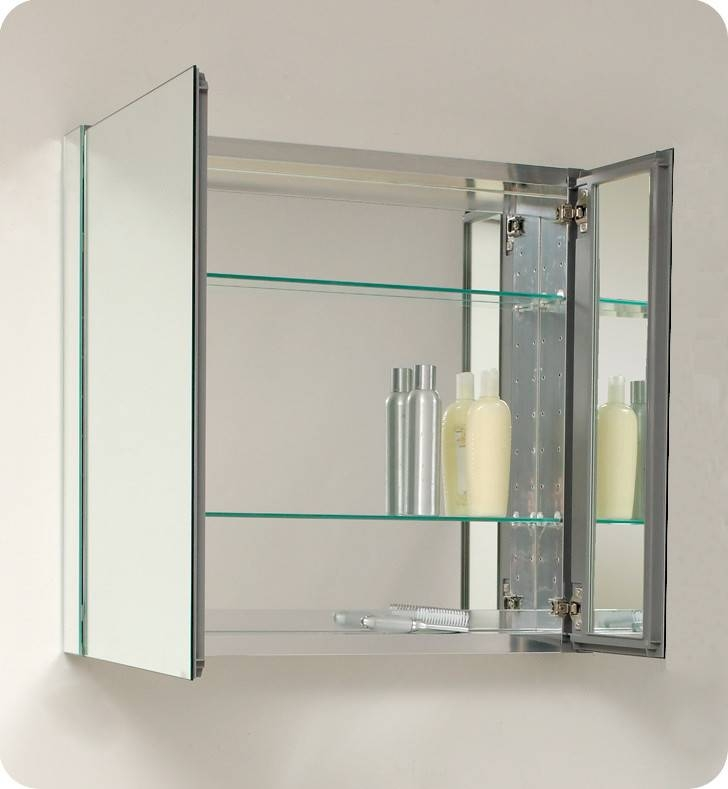 Fresca 30 Inch Wide Bathroom Medicine Cabinet With Mirrors With Bathroom Medicine Cabinets And Mirrors (#10 of 15)