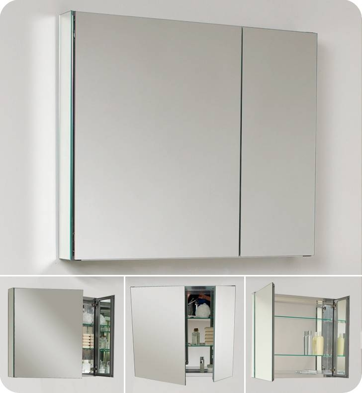 "Fresca 30"" Wide Bathroom Medicine Cabinet W/ Mirrors (#11 of 15)"