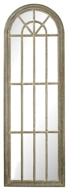 Full Length Arched Window Pane Mirror, 6100 007 – Farmhouse – Wall For Window Wall Mirrors (#10 of 15)