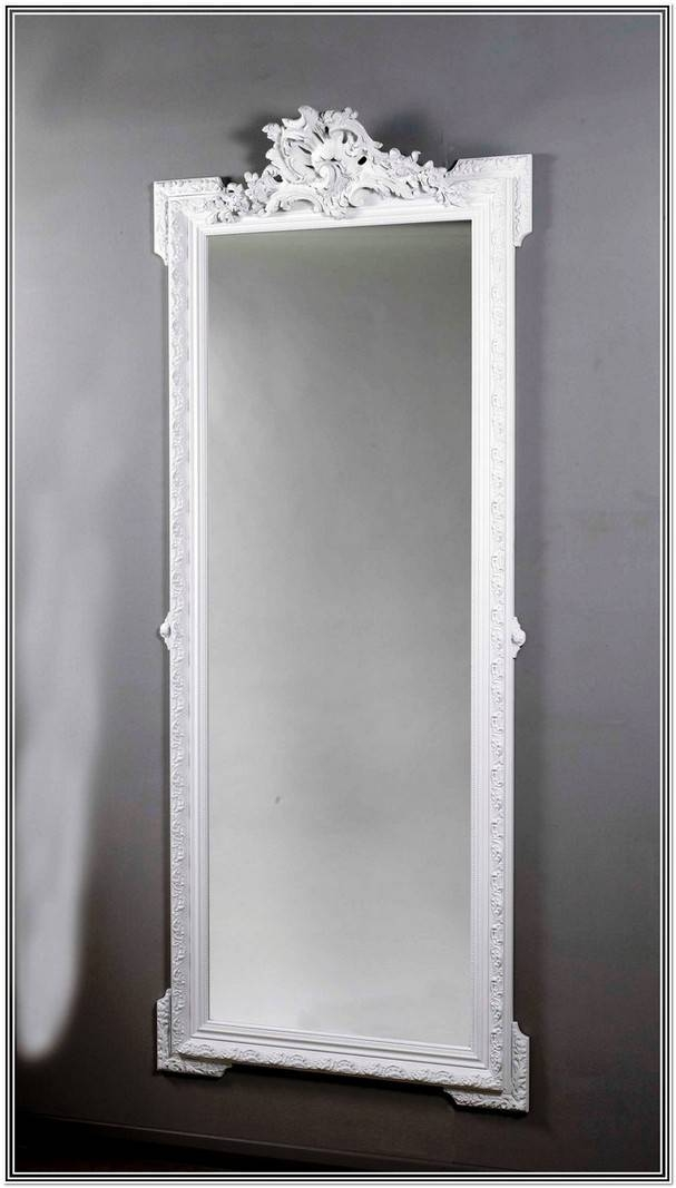 Full Length Wall Mirror White Frame   Home Design Ideas Pertaining To Full Length White Wall Mirrors (View 2 of 15)
