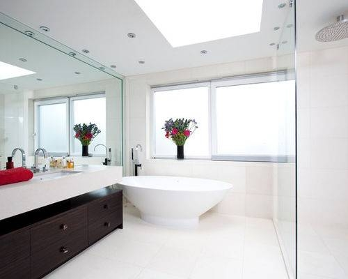 Full Wall Mirror | Houzz Inside Bathroom Wall Mirrors (#10 of 15)
