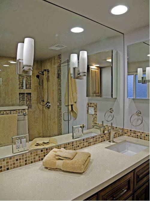 Full Wall Mirror | Houzz Pertaining To Bathroom Full Wall Mirrors (#13 of 15)