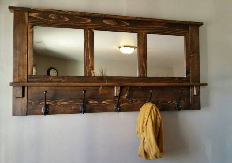 Popular Photo of Wall Mirror With Coat Hooks