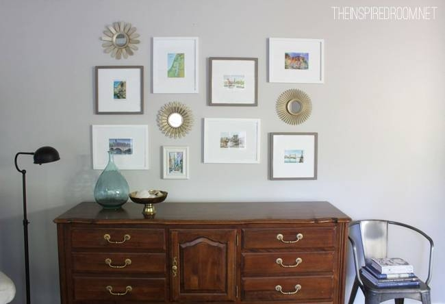 Gallery Wall In The Family Room! – The Inspired Room Intended For Gallery Wall Mirrors (#9 of 15)