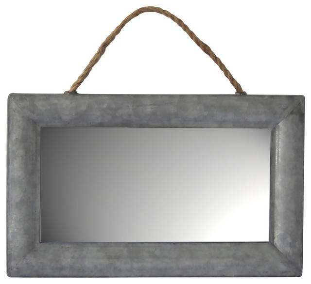 Inspiration about Galvanized Metal Wall Mirror – Industrial – Wall Mirrors  Cheungs With Metal Wall Mirrors (#9 of 15)