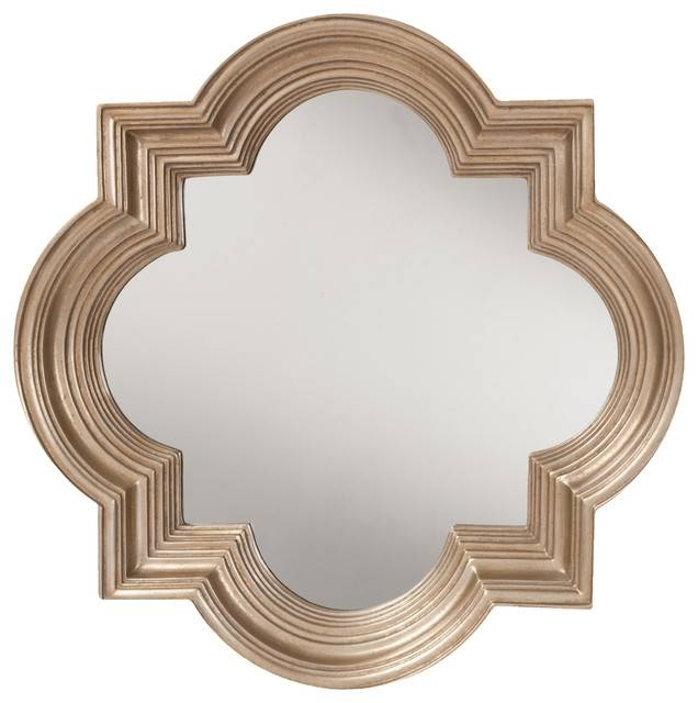 Inspiration about Gatsby Wall Mirror With Platinum Gold Frame – Mediterranean – Wall Inside Gold Framed Wall Mirrors (#12 of 15)