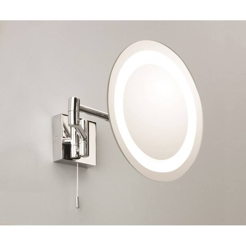 Inspiration about Genova Round Magnifying Adjustable Bathroom Mirror Light – Astro In Adjustable Bathroom Mirrors (#3 of 15)