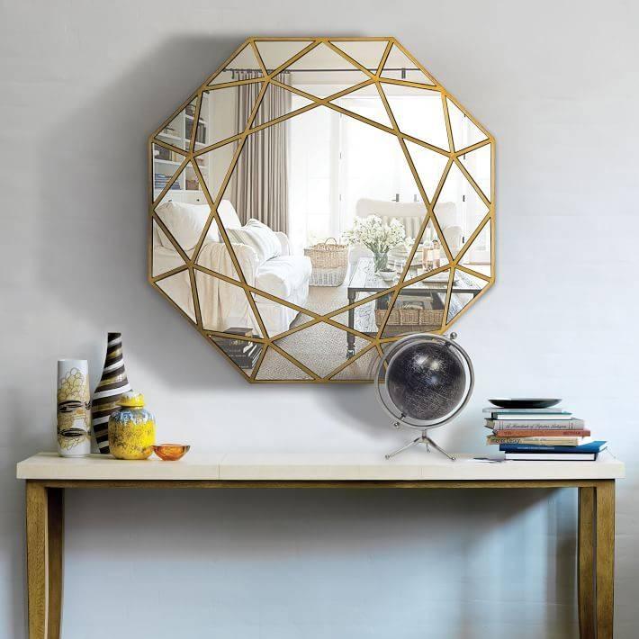 Geometric Framed Wall Mirror | West Elm In Geometric Wall Mirrors (#5 of 15)