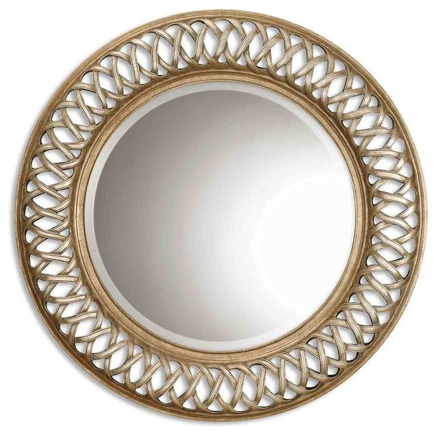 "Inspiration about Georgette Wall Mirror, Antique Gold, 45""x45"" – Transitional – Wall For Large Round Wall Mirrors (#8 of 15)"