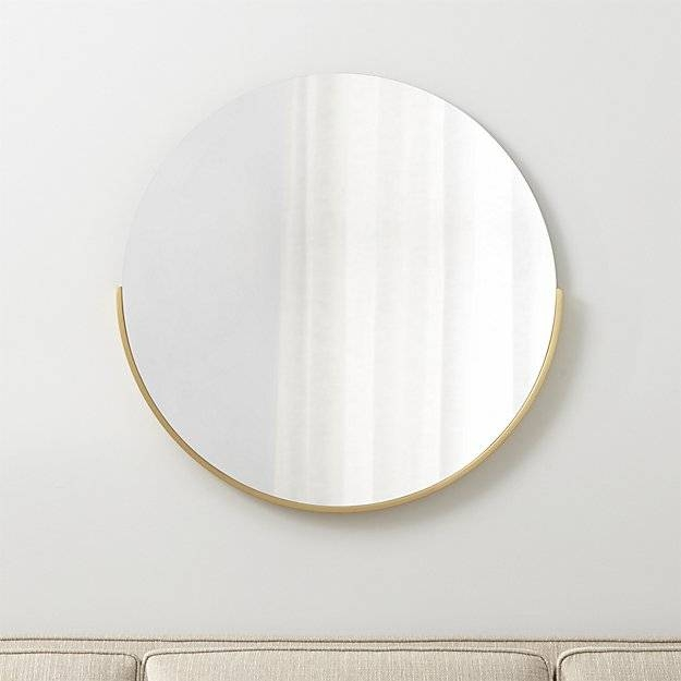 Inspiration about Gerald Small Round Wall Mirror | Crate And Barrel Throughout Small Oval Wall Mirrors (#12 of 15)