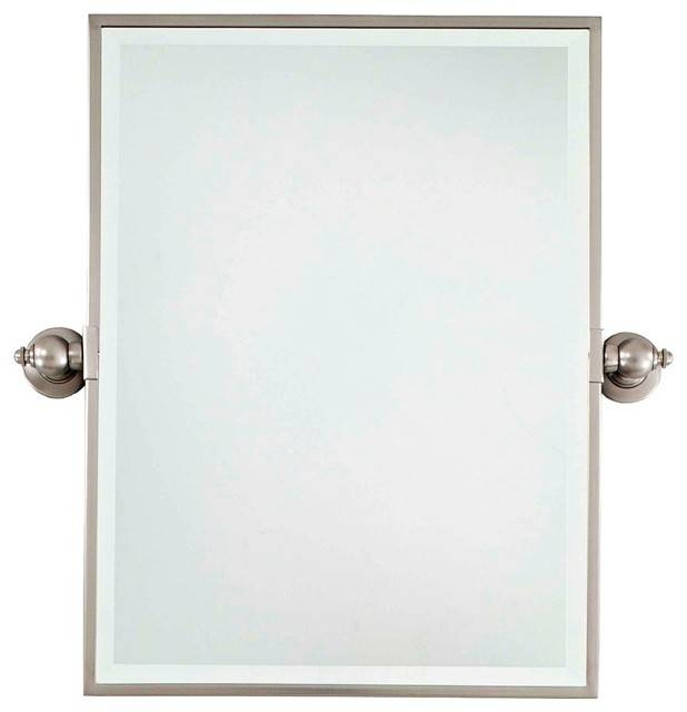 Inspiration about Glamorous 40+ Bathroom Mirrors Brushed Nickel Frame Inspiration In Brushed Nickel Wall Mirrors (#15 of 15)