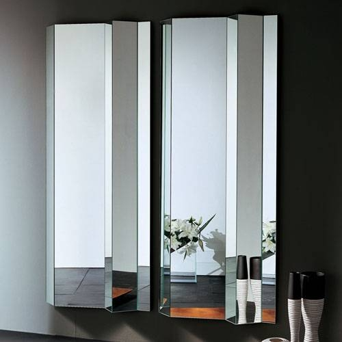 Inspiration about Glas Italia Kingdom Folded Modern Wall Mirror | Stardust With Regard To Vertical Wall Mirrors (#3 of 15)