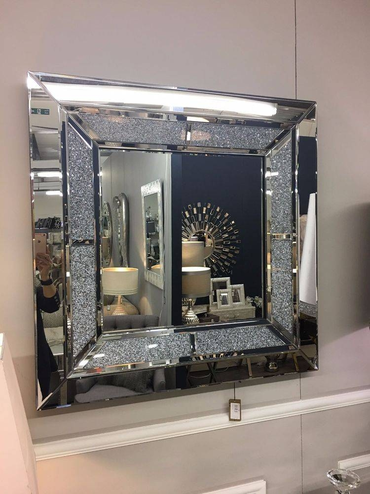 Inspiration about Glass Frame Square Decorative Mirrors | Ebay Regarding Large Square Wall Mirrors (#14 of 15)