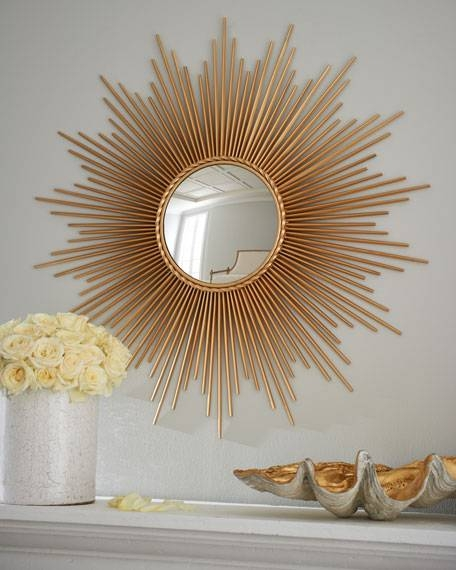 Inspiration about Global Views Thin Sunray Mirror For Sun Ray Wall Mirrors (#1 of 15)
