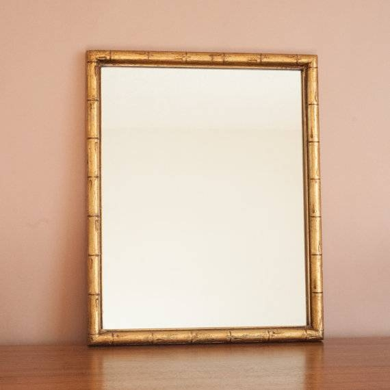Gold Bamboo Mirror | Inovodecor Within Bamboo Wall Mirrors (#8 of 15)