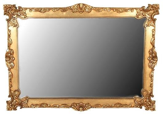 Gold Baroque Framed Mirror, Solid Mahogany, 6' – Victorian – Wall Within Gold Framed Wall Mirrors (#9 of 15)