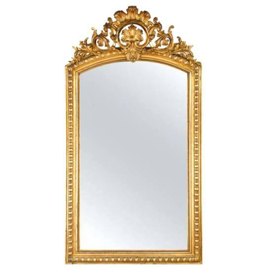 Gold Gilded Mirror – Designlee Inside Antique Gold Wall Mirrors (#12 of 15)