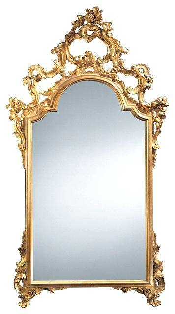 Gold Gilded Mirror – Designlee Inside Antique Gold Wall Mirrors (#11 of 15)