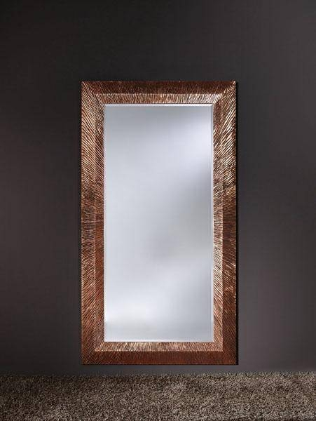 Inspiration about Groove Copper Ridged Framed Bevelled Wall Mirror – £1,287.00 Throughout Copper Wall Mirrors (#2 of 15)