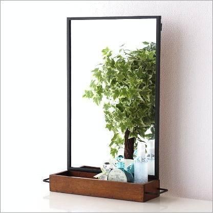 Hakusan | Rakuten Global Market: Wall Mirror Shelf Rack Wall For Wall Mirrors With Shelf (#9 of 15)