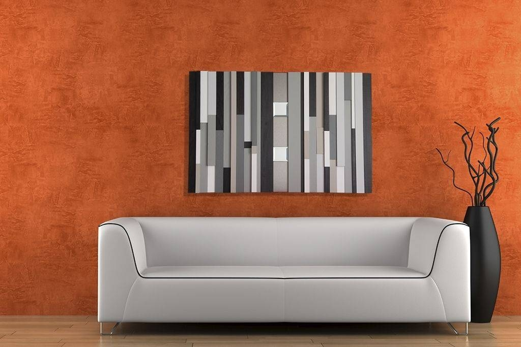 Hand Crafted Modern Abstract Wall Decor With Mirrorsmodern For Abstract Wall Mirrors (View 15 of 15)