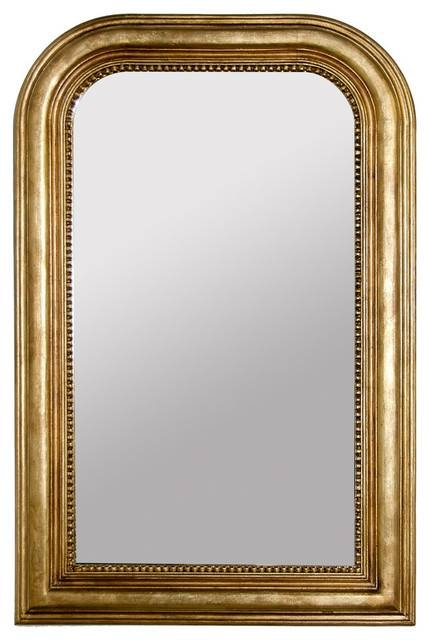 Handcarved Curved Top Rectangle Mirror – Traditional – Wall In Traditional Wall Mirrors (#12 of 15)