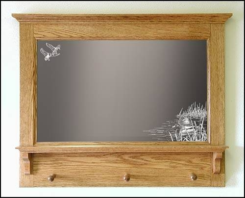 Handcrafted Decorative Mirrors – Decorative Wooden Mirror With Etched Wall Mirrors (#8 of 15)