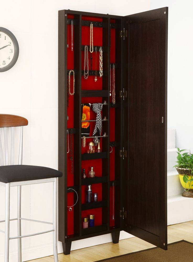 Hanging Jewelry Armoire | Homesfeed Intended For Jewelry Armoire Wall Mirrors (#6 of 15)