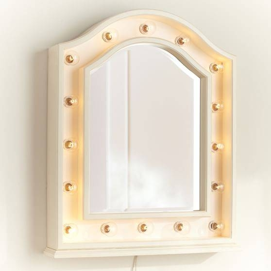 Hannah Wall Mounted Light Up Mirror | Pbteen Pertaining To Light Up Wall Mirrors (#9 of 15)