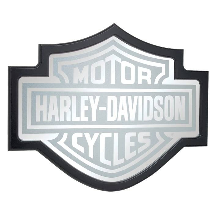 Hdl 15210 – Harley Davidson® Bar & Shield Mirror – Barnett Harley With Harley Davidson Wall Mirrors (#4 of 15)