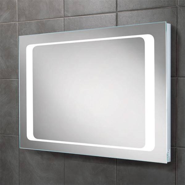 Hib Axis Led Backlit Bathroom Mirror W800 X H600Mm Inside Led Illuminated Bathroom Mirrors (#7 of 15)