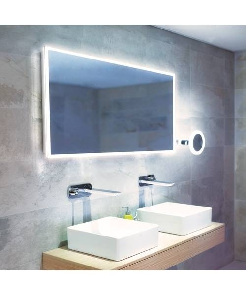 Hib Globe 120 Led Illuminated Bathroom Mirror 1200 X 600Mm Within Led Illuminated Bathroom Mirrors (#8 of 15)