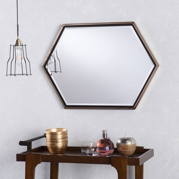 Inspiration about Holly & Martin Whexis Champagne Gold Frame Hexagon Wall Mirror With Hexagon Wall Mirrors (#4 of 15)