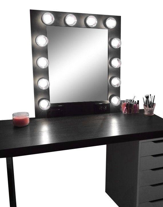 Hollywood Vanity Makeup Mirror With Lights Built In Digital Led With Vanity Mirrors With Built In Lights (View 3 of 15)