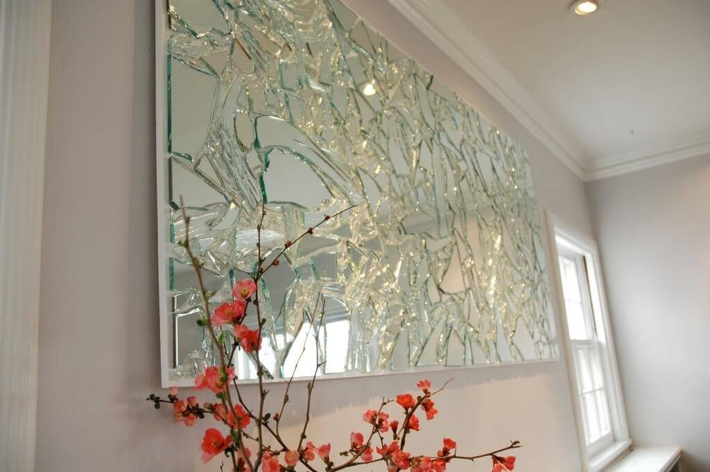 Home Decoration: Elegant Art Broken Glass Mirror And Wall Mirrors With Regard To Elegant Large Wall Mirrors (#7 of 15)