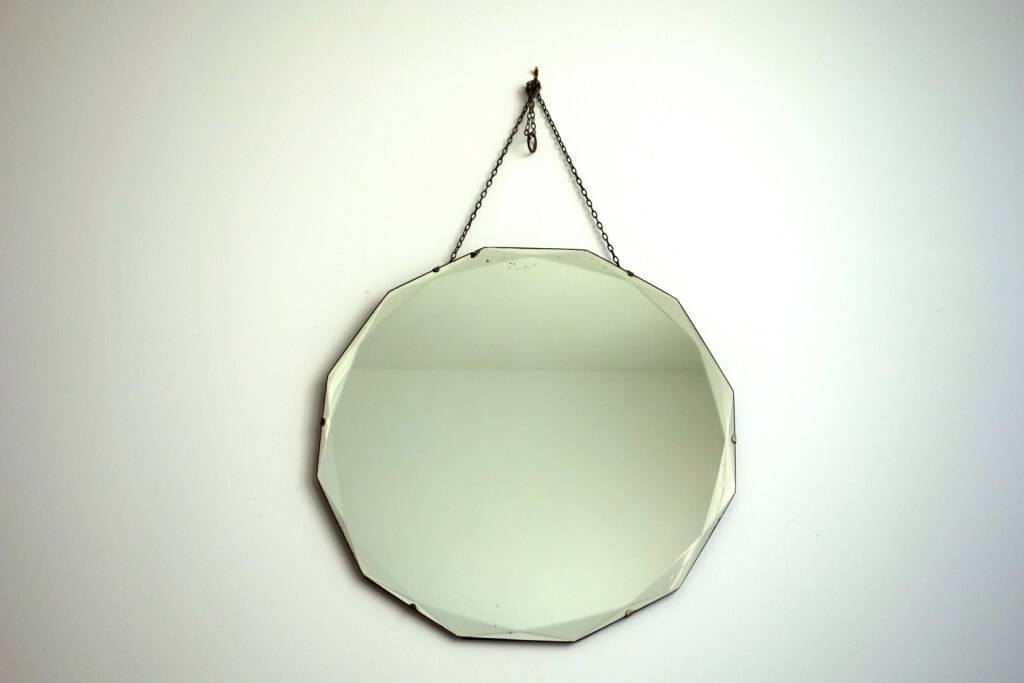 Home Decoration: Minimalist Frameless Round Mirror And Hanging Intended For Hanging Wall Mirrors (View 6 of 15)