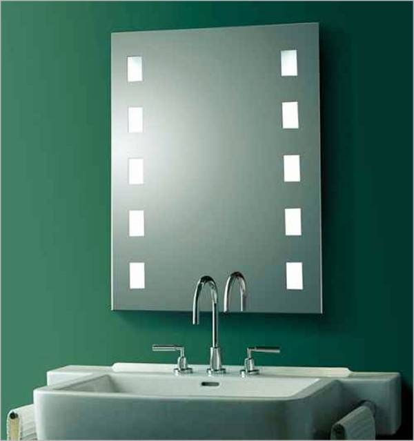 Homey Idea Modern Mirrors For Bathroom Contemporary Style Lighted Throughout Contemporary Bathroom Wall Mirrors (#15 of 15)